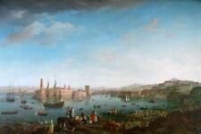 "Claude Joseph Vernet, Fine Art Print : Port of Marseille Maritime 16""x24"""