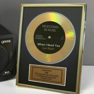 Personalised Framed Gold Record Disc 18th 21st 40th 60th 70th Birthday Gift Idea