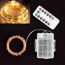 LED string lights battery fairy christmas outdoor Xmas decor warm white wire 10m
