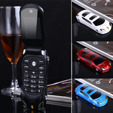 Student Dual SIM Pocket Unlocked Car Mobile Cell Flip Phone Camera LED FM Kids