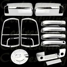 10-13 Dodge Ram 2500 Mirror 4 Door handle Tailgate Taillight Gas Chrome Covers C