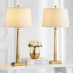 Safavieh Lighting Collection Andino Gold 32-inch Bedroom Living Room Home Off...