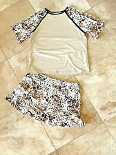 Tail Chrissie Xl 2 Pc Tennis Skort W/Shorts, Capslv Top Retail $156.00 Brn Gld