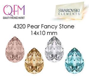 6pcs 14x10mm 4320 SWAROVSKI® Undrilled Pear Fancy Stone TearDrop