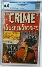 Crime SuspenStories #6 CGC Grade 6.0 Off-White EC Comics 8-9/1951 Golden Age