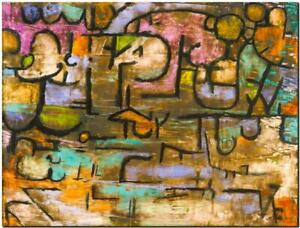 """PAUL KLEE ABSTRACT ART ~ After the Flood ~ CANVAS PRINT Poster ~ 16""""X 12"""""""