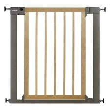 Lindam SURE SHUT DECO NATURAL WOOD & METAL Baby/Toddler Nursery Safety Gate BN