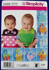 Simplicity 8 Baby Bibs Sewing Pattern Spider Turtle Bear Frog Dog Applique 2468