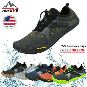 NORTIV8 Mens Water Shoes Quick Dry Barefoot Swim Diving Surf Aqua Sport Vacation