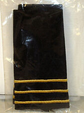 US Military School Academy Cadet Officer Soft Shoulder Board Epaulet Pair CPT