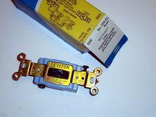 LEVITON 1203-2L 3/Way Quiet Locking Switch Brown Tamper Resistant 15A 120/277V