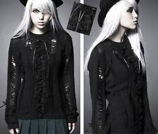 Pull jabot gothique lolita destroy fashion laçage ruban volant dentelle Punkrave