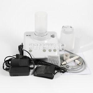 Portable Dental Ultrasonic Piezo Scaler 2 Water Bottles 5 tips fit EMS UK CE