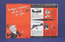 Original 1955 Marilyn Products Remote Control Test Pilot Dealer Trade Brochure