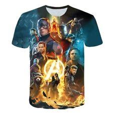 Avengers Endgame Marvel Kino  3D  T-shirts Sommer kurzarm Shirt Sport Freizeit