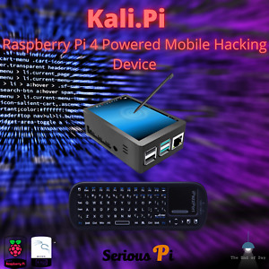 "Kali Linux  Raspberry Pi 4 Assembled with 3.5"" Touchscreen (32 gig SDCH C10)"