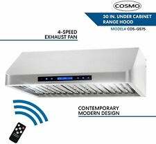 Cosmo Cos-Qs75 Pro-Style Under Cabinet Range Hood - Silver