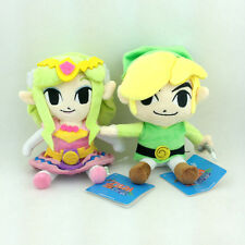 2X The Legend of Zelda Link Princess  Nintendo Game Stuffed Animal Plush Toy 7""