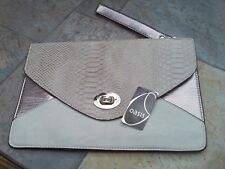 Oasis clutch / wristlet bag with handle -cream / gold colours BNWT