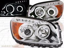 06-08 Rav4 CCFL Angel Eye Halo Projector Headlights Chrome LED 07