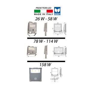 Proiettore/Faro LED SBP GUELL 26W 58W 78W 114W 158W IP66 MADE IN ITALY