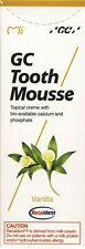 2x GC Tooth Mousse je 40g (35ml.) Recaldent -Vanille- Geschmack