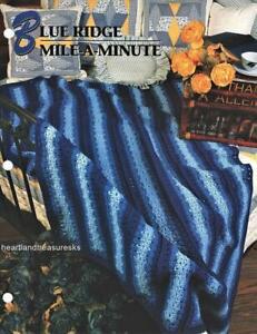 Blue Ridge Mile~a~Minute Annie's Attic Crochet Afghan Pattern Page