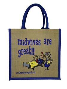Midwives are Great Jute Shopper from These Bags Are Great - Good size bag gift