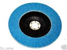 """50PCS PREMIUM BLUE ZIRCONIA FLAP DISC SANDING GRINDING 4-1/2"""" X 7/8""""  36 GRIT"""