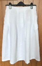 John Lewis Pure Linen Full Skirt, White, UK 10, BNWT, RRP £55