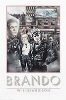 MARLON BRANDO ~ BIKER COLLAGE 24x36 MOVIE POSTER W.S. Grandison Art NEW/ROLLED!