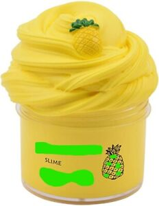 SLIME FLUFFY CHILDREN FUN CLAY SOFT LEARNING  PLASTICITY GIFT 50 GR / ML YELLOW