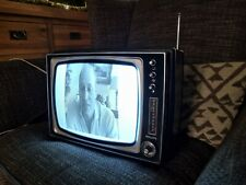 """Vintage Philips 12"""" Black & White  TV Set movie Prop shop prop theatre retro"""