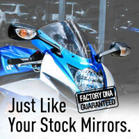 OEM spec black LED mirror for Suzuki GSX-R600 11'-16 GSX-R750 11'-16' PAIR ε