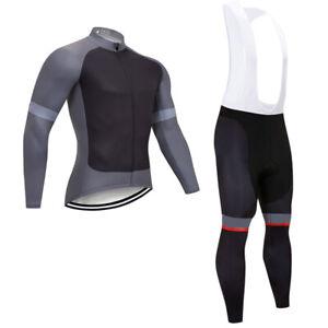 Mens New Cycling Jersey Long Sleeve Clothing Bib Pants Kits Shirt Maillot Tights