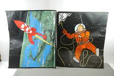 Tim Struppi Tintin 2X Bolsas Haddock Spacewalk + Cohete Bolsa Bolsa (L)