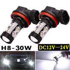 2x H8 H11 30W 6000K High Power CREE LED Fog Driving Light Canbus Lamp Bulb White