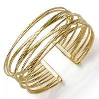 Armspange Armband Armschmuck aus 585 Gold Gelbgold 25mm breit, gerillt, Damen