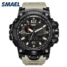 SMAEL Waterproof Sports Military KHAKI Watch Men's Analog Quartz Digital Watch