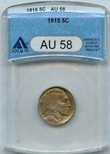 1915 Buffalo Nickel 5c ANACS AU 58