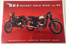 vintage/retro repro metal A4 BSA motorcycle sign/poster wall decor