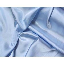 "Baby blue Bridal Shiny Satin Fabric /by the yard / 60"" Polyester Wedding Dress"