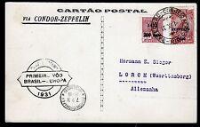 Zeppelin 1931,1.Südamerikafahrt,Brasilianische Post mit 2500 R., Sieger 125 A
