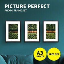 Artiss Photo Frames Collage Black A3 Picture Frame Wall Set Home Decor 3PCS