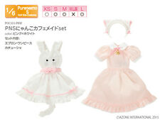 Azone Pureneemo PNS Cat Cafe Maid Set Pink x White Momoko Doll Pullip Obitsu
