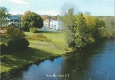 Postcard CT Connecticut New Hartford Farmington River Town View MINT