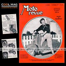 MOTO REVUE N°1160 GEORG MEIER, CARBURATEURS ZENITH-STROMBERG, MONET GOYON 1953