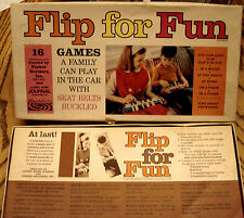 PARKER BROTHERS FLIP FOR FUN 16 Travel Games Play Dominos Crazy 8s VINTAGE 1966