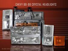 94-98 Chevy C10 Pickup Suburban Tahoe Silverado C1500 Headlights Corner 10 Pcs