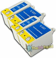 4 non-oem T036 T037/TO36 TO37 Ink Cartridges for Epson Stylus C44